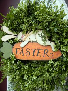 Easter Grapevine Spring Door Wreath by AnExtraordinaryGift on Etsy