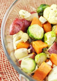 Don't Panic -> Here is a Easy Thanksgiving Side Dish Recipe featuring: Roasted Potatoes, Cauliflower and Brussel Sprouts (Gluten-Free and Vegan Too)