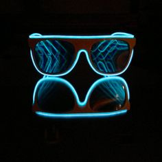 GloFX Flat Top Diffraction Glasses with BLUE by GloFX on Etsy, $44.95