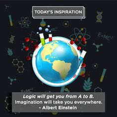 Using Your Imagination Is Key, Take It From Albert Einstein. #InspirationalQuotes