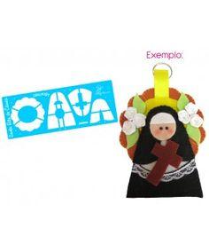 Régua para Confecção de Chaveiro - Santa Rita de Cássia - Coleção Chrys Altran
