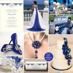 Things Festive Weddings & Events: Cobalt Blue Wedding? Try Pantone's Monaco Blue