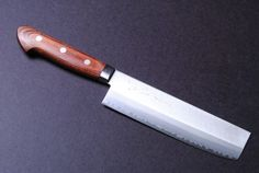 "YOSHIHIRO- Gold steel chef knife Usuba Knife 6.5"" 165mm MADE IN JAPAN by YOSHIHIRO. $99.99. Steel Type: Gold Steel. Blade: Double-Edged (50/50) / Blade Length: 7"" (180mm). Handle Material: wood. Knife Type: Usuba (Nakiri) Knife. Hardness Rockwell C scale: 60. Gold Forging  Gold steel is the highest quality in the stainless class providing a super sharp edge. The Gold Steel is forged with soft iron on both sides of the blade making it easy to sharpen and mainta..."