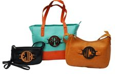 I am in love with these purses! You can change the monograms out!!- Grateful Bags
