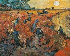 Vincent Van Gogh - Viñedos rojos en Aries