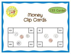 These cards are terrific for Math Centers – A Hands-On Activity your kiddos will love!  133 total cards 53 cards of Unmixed Coins (all-penny cards or all-nickel cards or all quarters cards...) 20 cards of Nickels and Pennies 20 cards of Dimes and Pennies 12 cards of Quarters and Pennies 12 cards of Nickels, Dimes, and Quarters 16 cards of Mixed Coins (all coins, even half dollars)  Look how real this money looks!