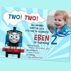 FREE Printable Thomas the Tank Engine Birthday Invitation Little