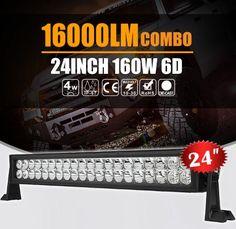 22INCH / 24INCH 160W LED LIGHT BAR SPOT FLOOD COMBO WORK 4WD UTE OFFROAD SUV ATV