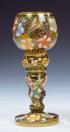 Lot: 441: Roemer Moser Karlsbad Glass Rummer Antique Vintage, Lot Number: 0441, Starting Bid: €380, Auctioneer: Dr. Fischer Fine Art Auctions, Auction: European Glass and Studio Glass, Date: October 18th, 2008 SAST
