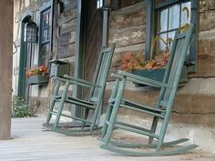Sitting in a rocking chair on the front porch after a long day is wonderful therapy.....Remember when neighbors used to gather and visit on the front porch....Missing those days