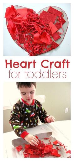 Fun idea for toddlers. Great Valentine's day craft for toddlers. by lelia Toddler Valentine Crafts, Valentines Day Activities, Valentine Day Love, Holiday Activities, Valentines For Kids, Craft Activities For Kids, Toddler Crafts, Preschool Crafts, Holiday Crafts