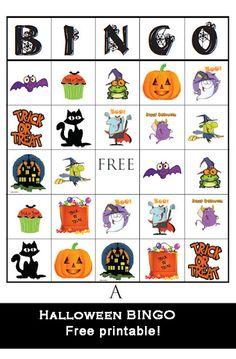 Halloween Bingo printables