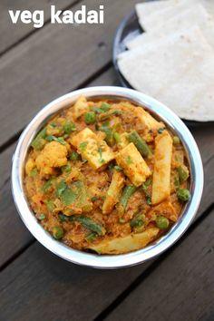 veg kadai recipe, kadai vegetable recipe, vegetable kadai sabzi with step by step photo/video. flavoured sabzi recipe with choice of veggies & kadai masala. Indian Vegetable Recipes, Mix Vegetable Recipe, Healthy Vegetable Recipes, Broccoli Recipes, Veg Recipes, Curry Recipes, Indian Food Recipes, Vegetarian Recipes, Cooking Recipes