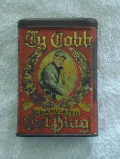 Ty Cobb Granulated Cut Plug Vertical Pocket Advertising Tin