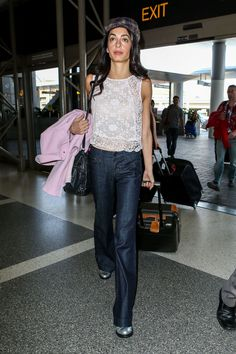 Amal Clooney Just Made Off-White Heels Look Office-Appropriate Amal Clooney, George Clooney, Amal Alamuddin Style, Human Rights Lawyer, Look Office, Citizens Of Humanity Jeans, Celebrity Look, Celeb Style, Red Carpet Dresses