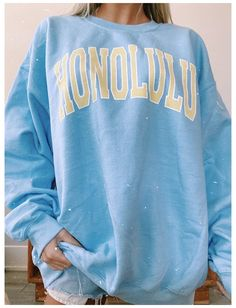 Cute Sweatshirts, Printed Sweatshirts, Fashion Sweatshirts, Men's Hoodies, Sweatshirts Online, Sweatshirt Outfit, Big Sweater Outfit, Look Cool, Aesthetic Clothes