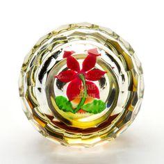 Ivoire de Balmain Cristal Saint Louis Glass Floral Paperweight Perfume Bottle