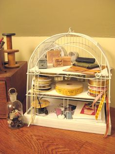 Recycled Birdcage ~ So Cute!