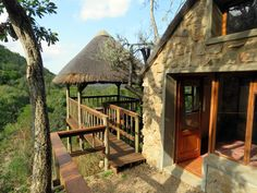Four star rated Woodbury Lodge is spectacularly set against a cliff above the Bushmans River valley Game Reserve, Cliff, Lodges, Cabin, River, Star, House Styles, Home Decor, Cabins