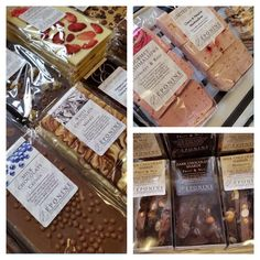 A selection of our lovely artisan chocolate and confectionery, including chocolate bars, gourmet mallows, and chocolate shards. (Eponine Patisserie & Chocolaterie)