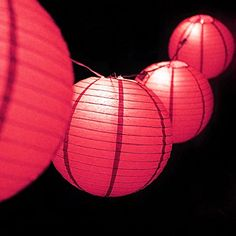 MoonBright 12 Hot Pink Paper Lantern Outdoor String Light Set 10PACK Combo Kit ** See this great product.