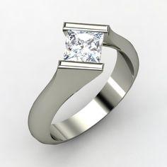 Diamond & silver ring....