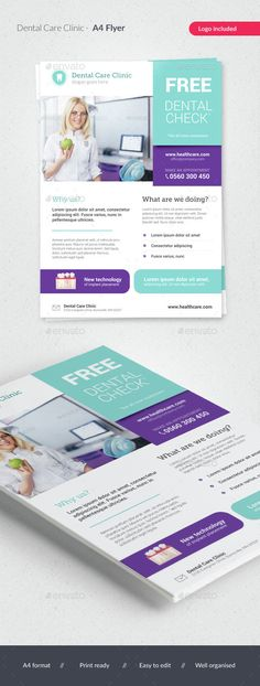 Dental Care / Medical Flyer Template PSD. Download here: http://graphicriver.net/item/dental-care-medical-flyer/15346613?ref=ksioks
