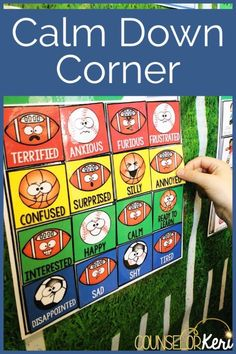 Self Regulation Station: Give your students a place to regulate their emotions and physical responses in a calm down corner or regulation station! What's in your calm down area or calm down kit? You'll love these sport-themed calming strategies activities! Give your students a place to regulate their emotions and physical responses in a calm down corner or regulation station! Perfect for classroom self regulation activities or counseling office calm down corner.
