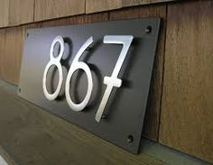 house numbers stainless steel - Google Search