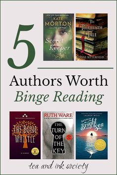 5 Contemporary Authors Worth Binge Reading (My Auto-Read Favourites) - Tea and Ink Society Best Books To Read, New Books, Good Books, Book Club Books, Book Lists, Reading Lists, The Thirteenth Tale, Reading Challenge, Love Book