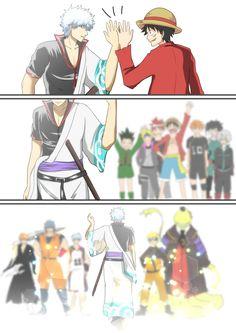 Anime End Gintama gintoki luffy gon naruto Korro sensei Otaku Anime, Anime Naruto, Manga Anime, Film Anime, Naruto Comic, Fanarts Anime, Naruto Shippuden Anime, Sad Anime, I Love Anime