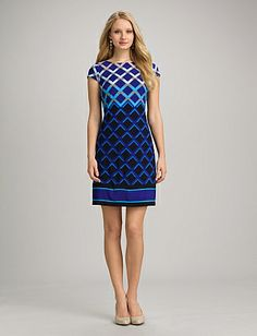 Roz & Ali Geometric dress by dress barn