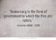 Identify this quote on Democracy by a philosopher?