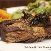 "Caramelized Broth Brisket with Beef ""Jam"""