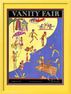 Vanity Fair Cover - August 1927 Poster Print by A. H. Fish at the Condé Nast Collection