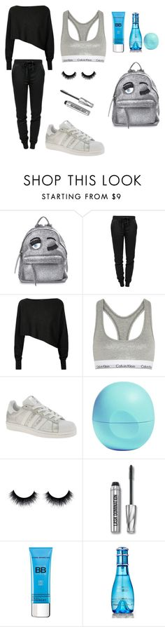 """""""Late for dance class"""" by nadinehab ❤ liked on Polyvore featuring Chiara Ferragni, T By Alexander Wang, Crea Concept, Calvin Klein Underwear, adidas, Eos, Bare Escentuals, Givenchy and Davidoff"""