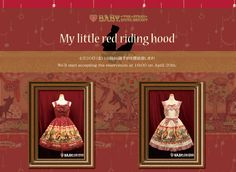 """BTSSB does a lot of """"Little Red Riding Hood"""" inspired things ^-^"""
