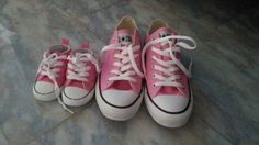 Mother's  daughter's Converse shoes ♥ oh definitely. Different color though. Pink ain't our thang. Snap snap.