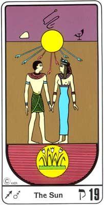 19. La Inspiración (El Sol) en el Tarot Egipcio Kier