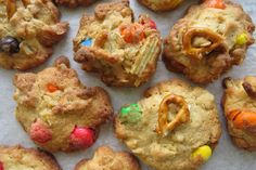 These sweet and salty compost cookies are a great way to use up leftover snacks from a party like pretzels, potato chips or chocolate.