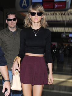 Taylor at LAX airport in Los Angeles, California 6.17.15