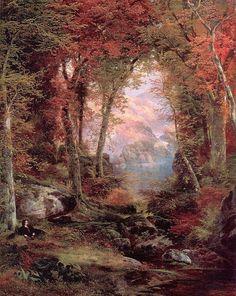Autumn woods cross stitch