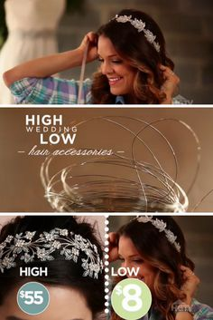 Make Your Own Wedding Hair Accessories via @sabrinasoto >> http://www.ulive.com/video/make-your-own-hair-accessories