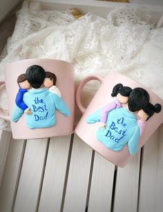 Custom Mother and Kid MugMug for Mother Gift for Son Mom gift Gift for MotherMother mug Dad Mug Custom family mug Polymer Clay Crafts, Diy Clay, Mother Gifts, Gifts For Mom, Mother Mother, Quotes Girlfriend, Personalized Gifts For Dad, Unusual Presents, Clay Mugs