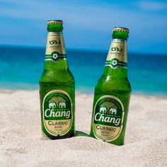 Chang Beer on Paradise Beach in Thailand