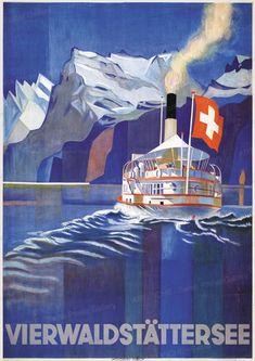 vintage art posters at cottage pinterest grafik kunst reiseposter und plakate. Black Bedroom Furniture Sets. Home Design Ideas