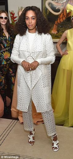06/03/15- Solange attends Christian Siriano Resort 2016 Collection