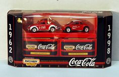 Rare Coca Cola Items | Rare Vintage 1998 Coca Cola Matchbox Collectibles 1962 and 1998 Coke ...
