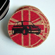 MINI Cooper Coasters from Etsy  I must have these!