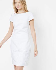 Jacquard shift dress - White | Dresses | Ted Baker